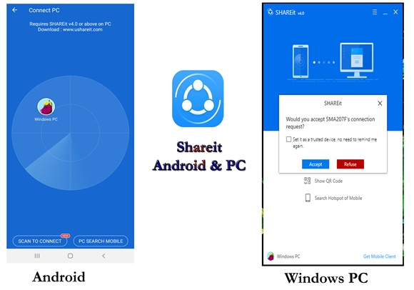 Shareit Android PC